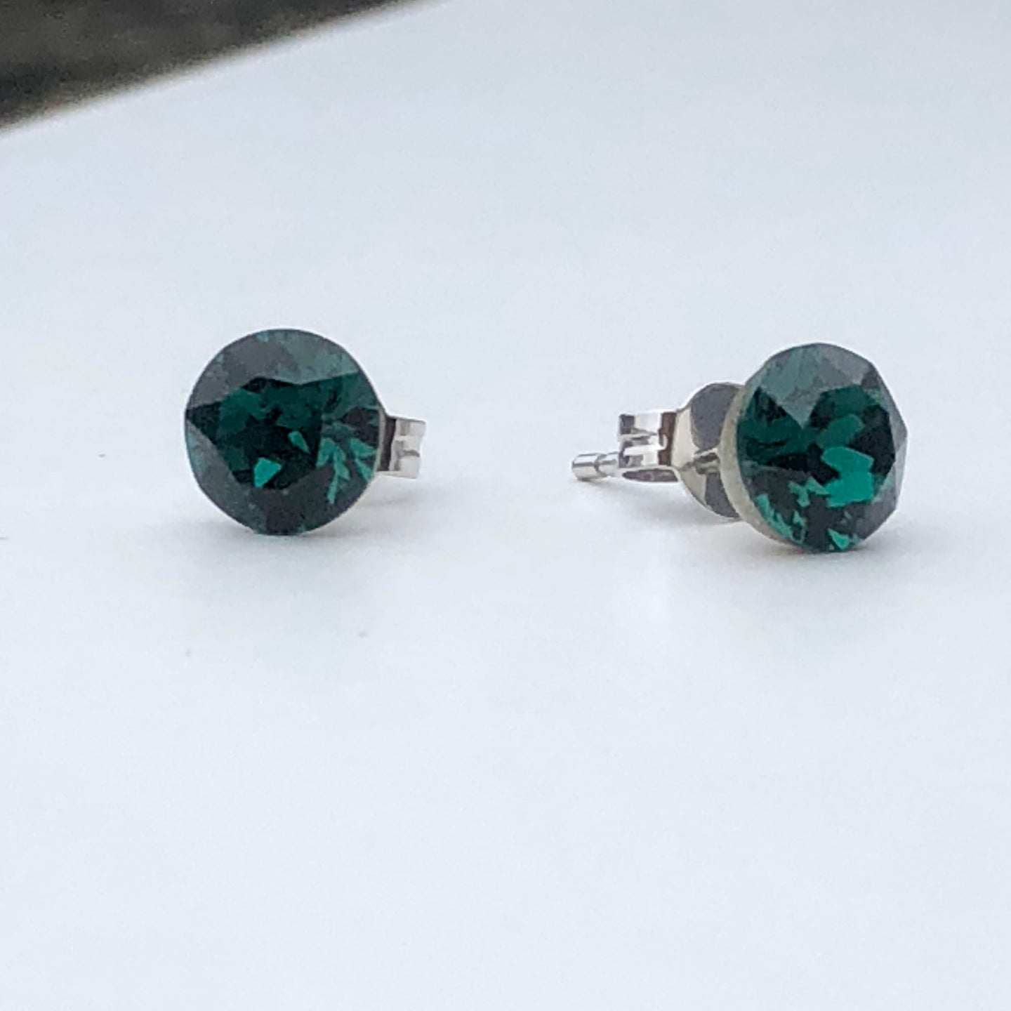 Emerald Green Swarovski Crystal Stud Earrings