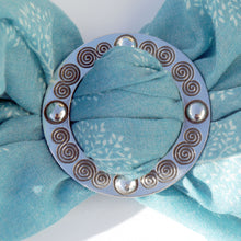 Scarf Ring - Celtic pattern silver scarf clip