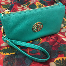 Teal Green Tree of Life Clutch Bag