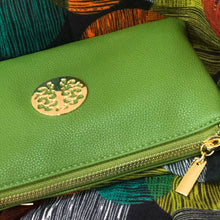 Green Tree of Life Clutch Bag