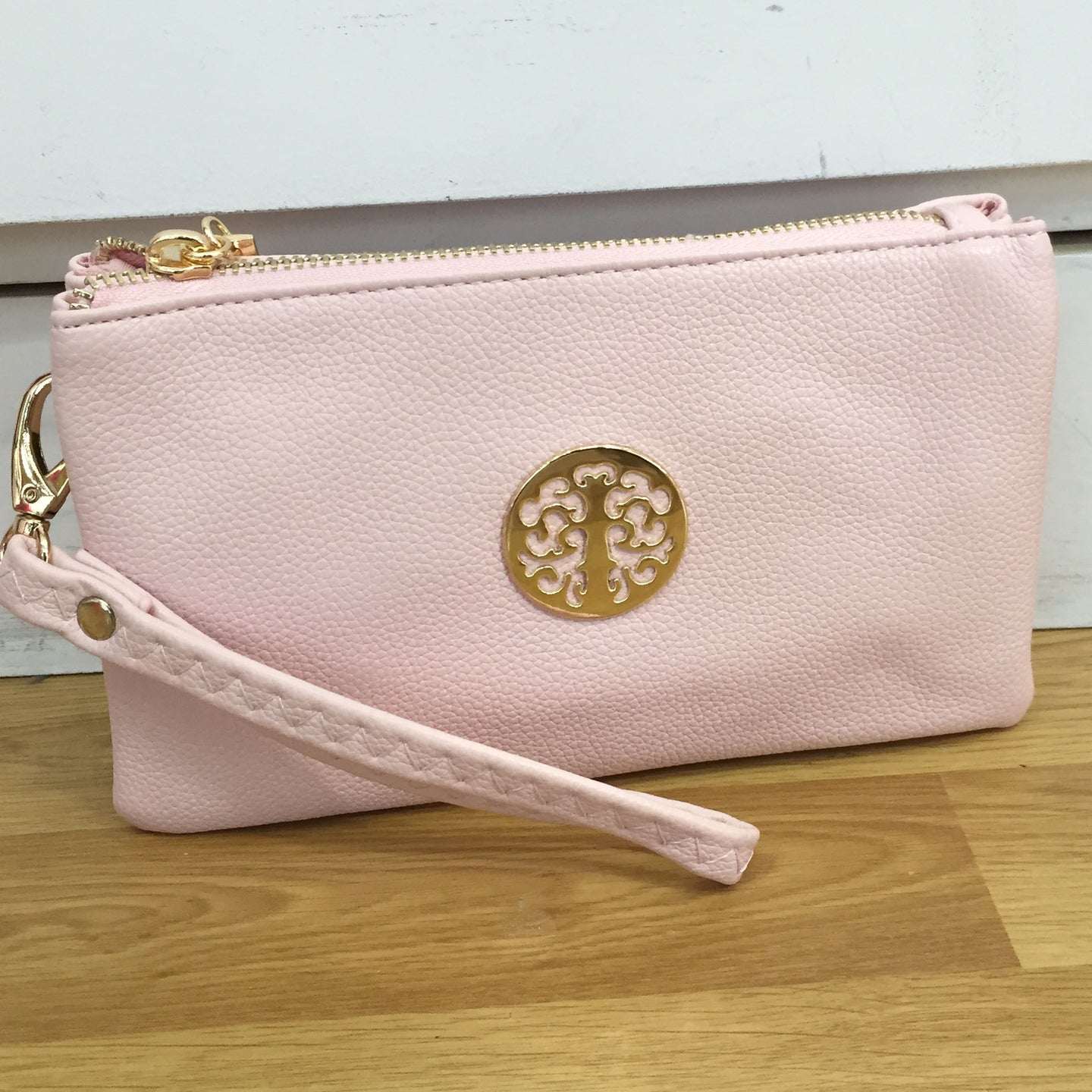 Pale Pink Tree of Life Clutch Bag