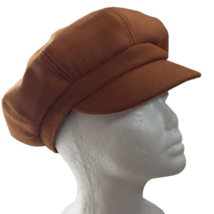Tan Brown Felt Hat