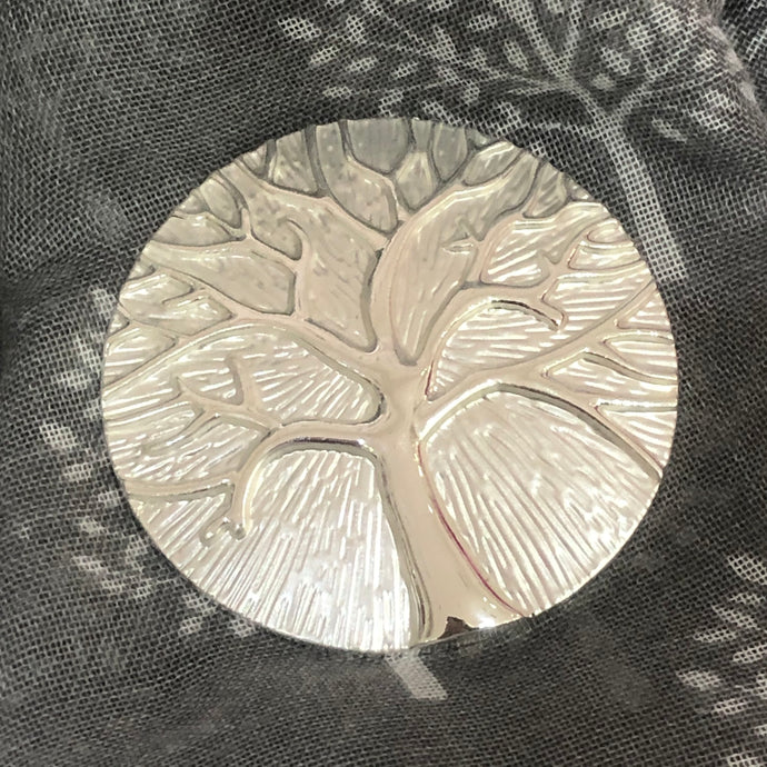 Tree of Life Scarf Magnet Silver