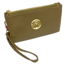 Burgundy Tree of Life Clutch Bag