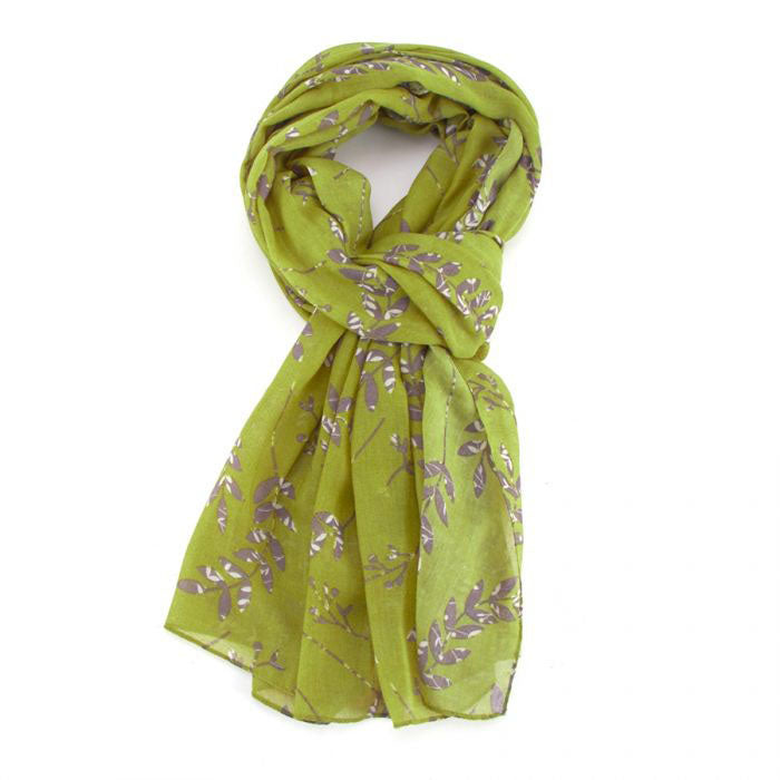 Vines Lime Green Scarf