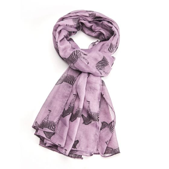 Purple Zebras Scarf