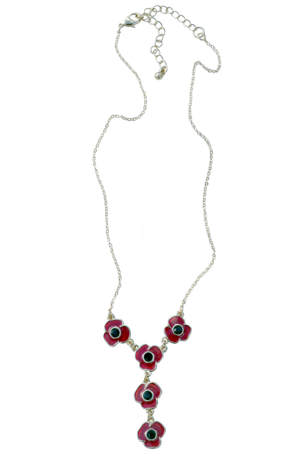 Poppies Necklace Gold