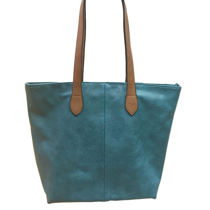 Teal Blue Shopper Bag- Tote handbag