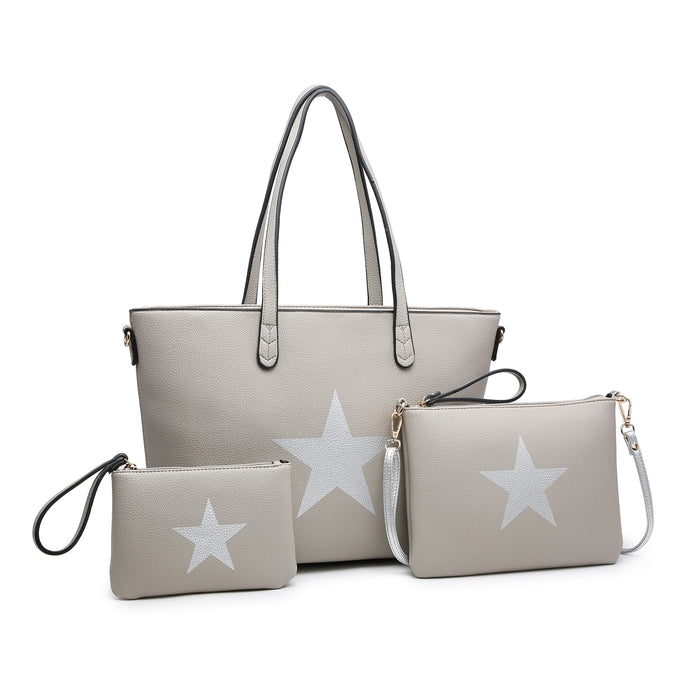 Grey Star 3in1 Handbag