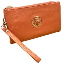 Orange Tree of Life Clutch Bag