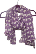 Westie Dog Scarf- Scottie Dog printed chiffon scarf