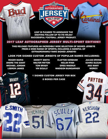 2017 Leaf Autographed Multi-Sport Jersey *Numbers Break 30*