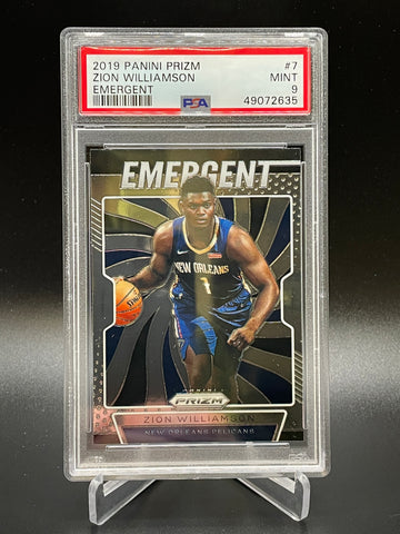 Pelicans - Zion Williamson 2019-2020 Prizm Emergent PSA 9