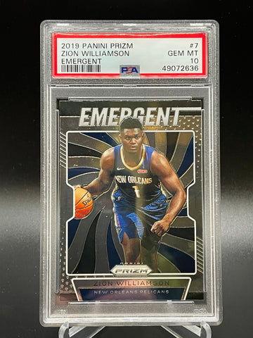 Pelicans - Zion Williamson 2019-2020 Prizm Emergent PSA 10