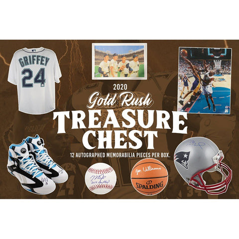 🚨NEW🚨 2020 Gold Rush Treasure Chest #2 - 12 Autographed Items - Random Conference/Category
