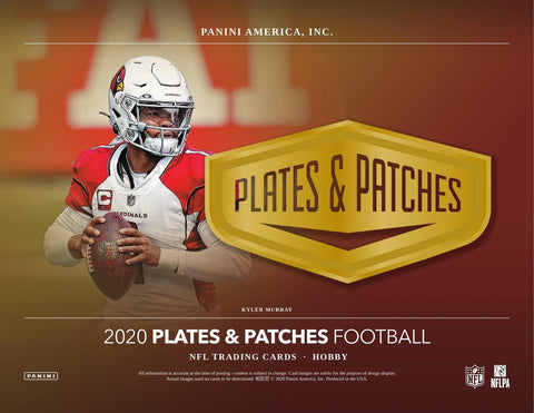 2020 Plates and Patches Football - Single Box Value Break #1 - Random Team Style