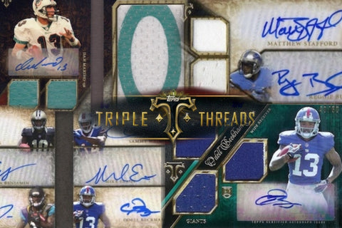 3️⃣6️⃣ HITS - 2014 Topps Triple Threads Football - 9 Box Case Break - 2 Teams per Spot (1 AFC and 1 NFC)