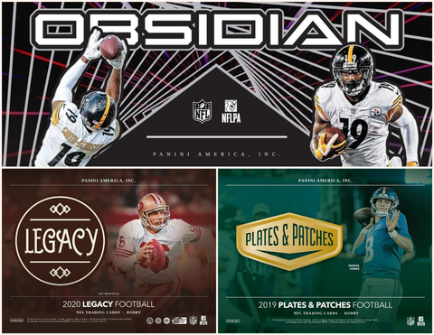 Football Value Mixer - 2019 Obsidian, 2019 Plates & Patches and 2020 Legacy - Random Teams