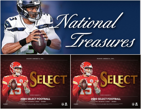3 Box 2020 Football Mixer - (1) National Treasures and (2) Select - PYT Style