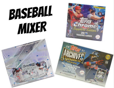 3 Box Baseball Mixer - (1) 2019 Chrome Sapphire, (1) 2019 Bowman Sterling and (1) 2021 Archives Sig Series - Random Teams