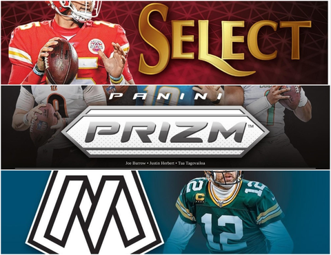 2020 Football Paralell Paradise Mixer - (1) Select, (1) Prizm and (1) Mosaic - PYT Style