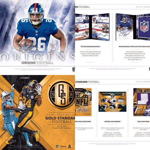 * Blended Case * (8) 2018 Origins AND (6) 2018 Gold Standard Football * 54 HITS *