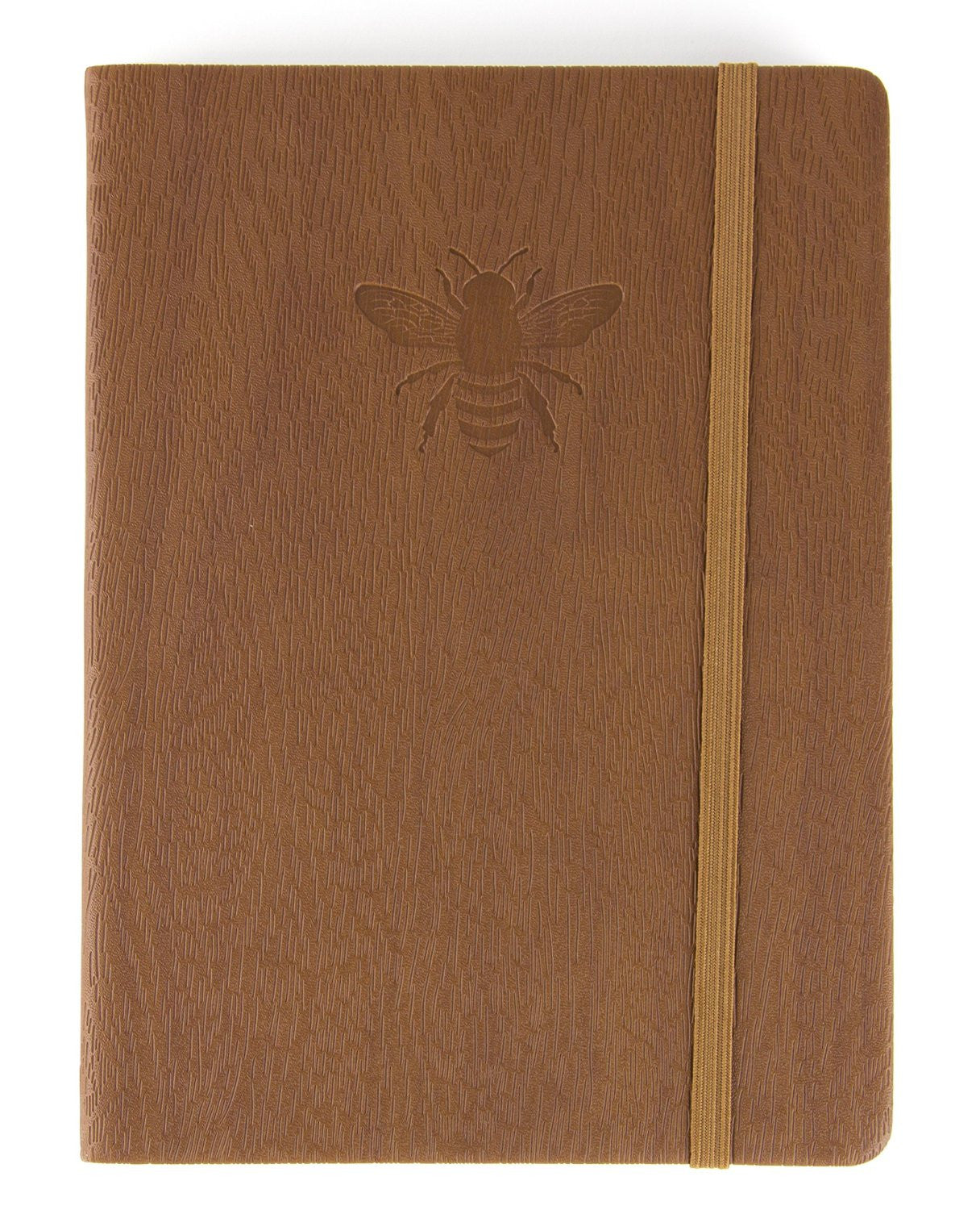Brown Journal With Embossed Bee Cover