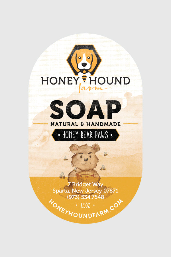 Honey Bear Paws Soap