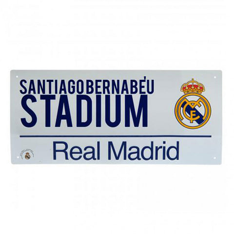 Real Madrid straatnaam bord Santiago Bernabeu