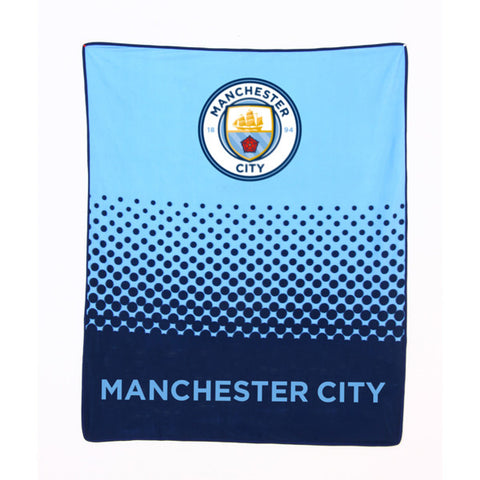Manchester City fleece deken fade
