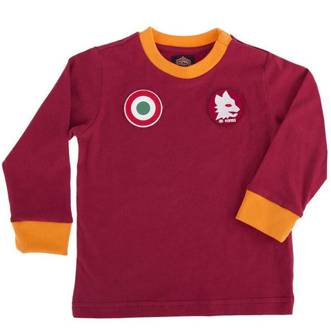 AS Roma Copa home retro shirt kids