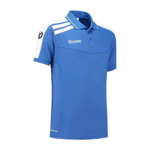 Olympic Roma Polo blauw/wit