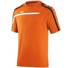 Jako T-shirt Performance oranje/wit/marine