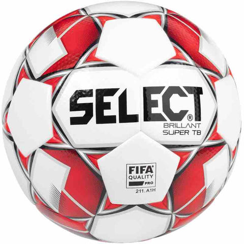 Select voetbal Brillant Super TB Red wedstrijdbal maat 4 en 5