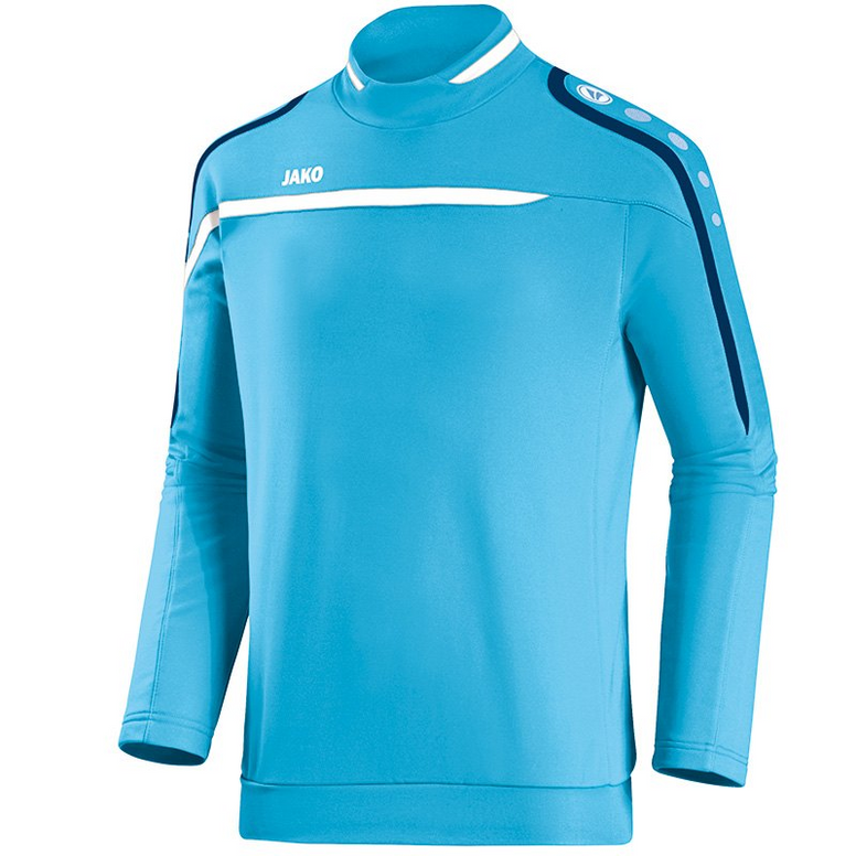 Jako sweater Performance aqua-wit-blauw (128-XXXL)