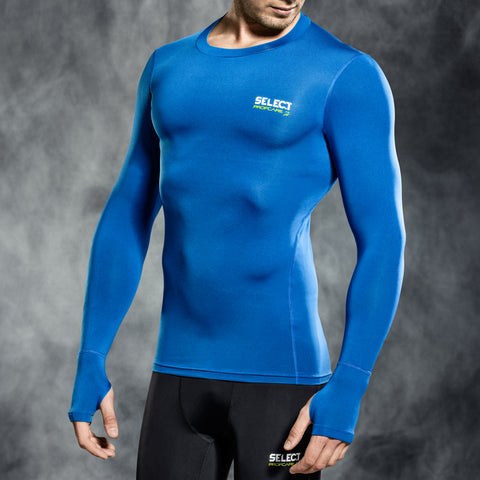 Select underwear compression t-shirt blauw L/S (S-XXL)