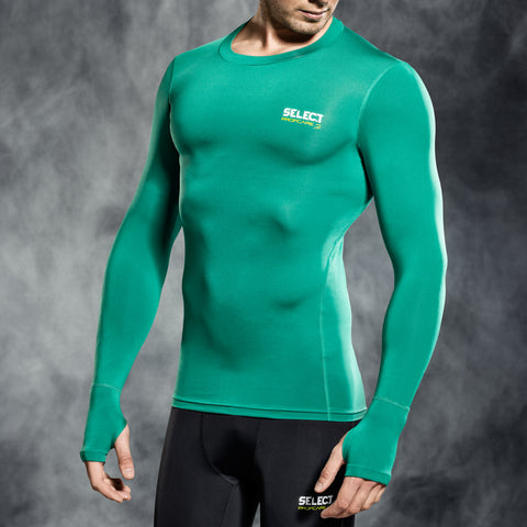 Select underwear compression t-shirt groen L/S (S-XXL)