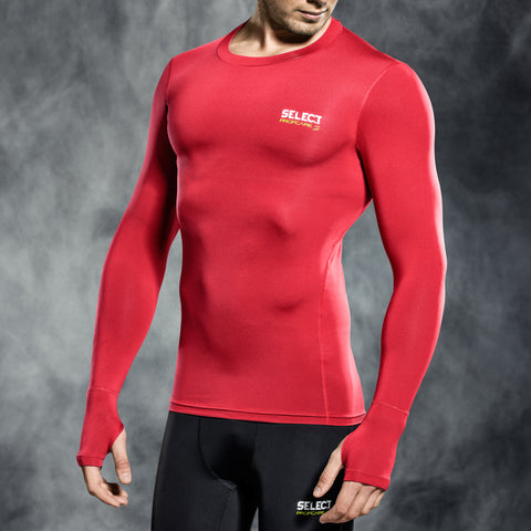 Select underwear compression t-shirt rood L/S (S-XXL)