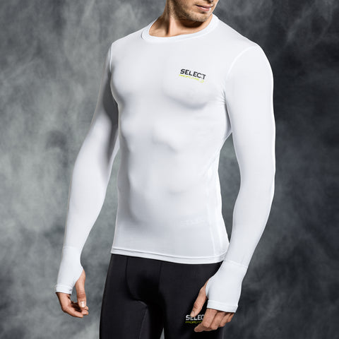 Select underwear compression t-shirt wit L/S (S-XXL)
