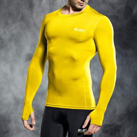 Select underwear compression t-shirt geel L/S (S-XXL)