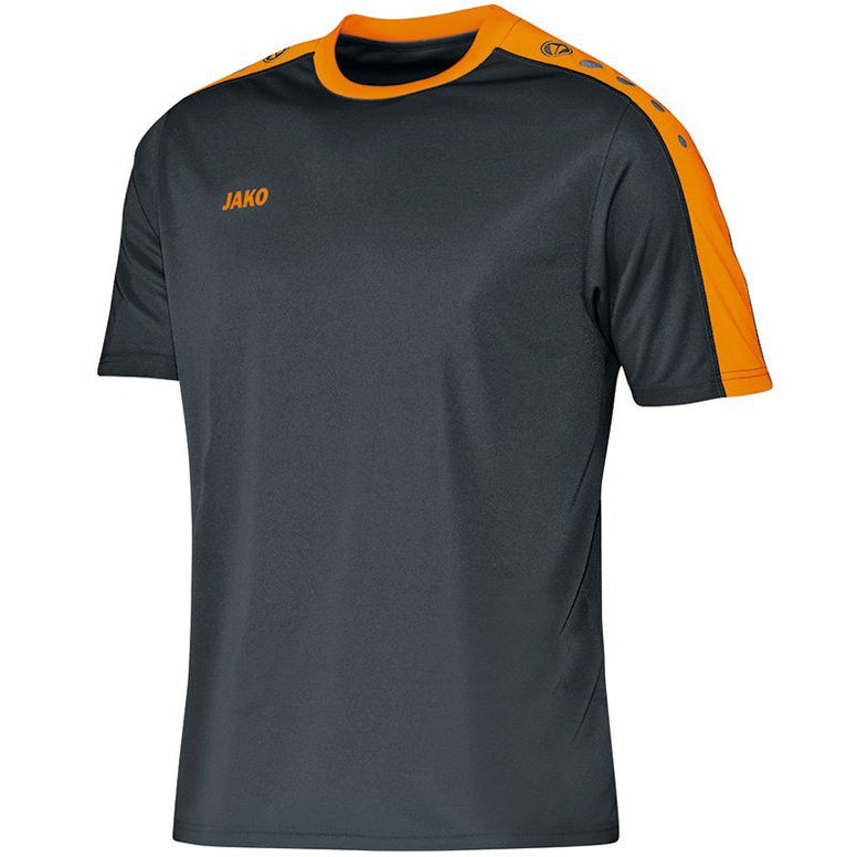 Jako shirt Striker antraciet/fluo oranje