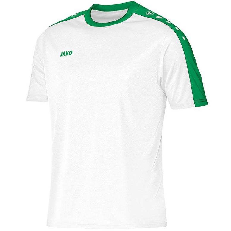 Jako shirt Striker wit/sportgroen JR