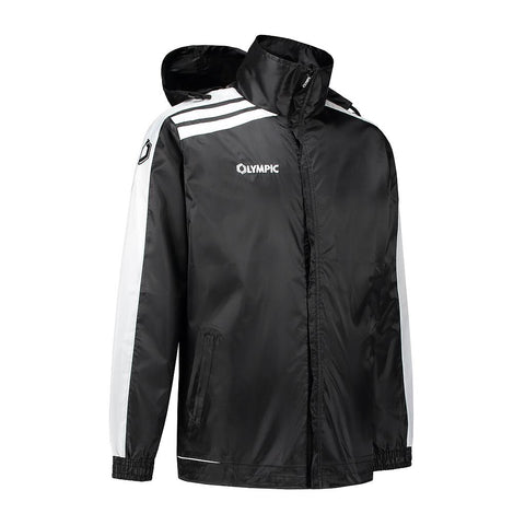 Olympic rainjacket Roma zwart/wit