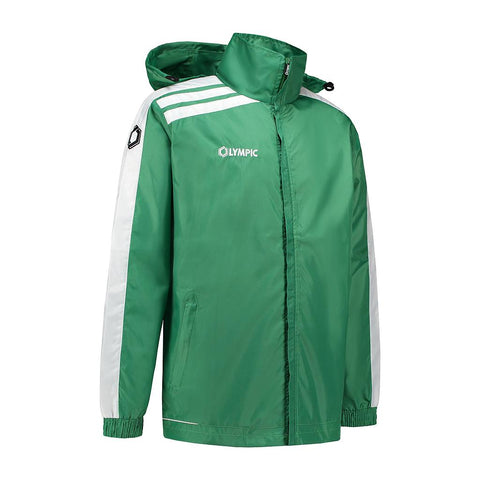Olympic rainjacket Roma groen/wit