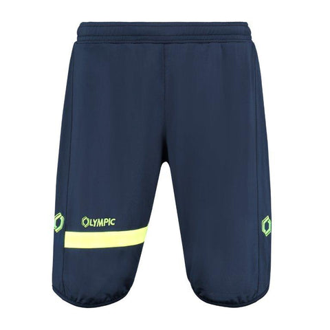 Olympic voetbalshort training top 2.0 marine/fluo geel