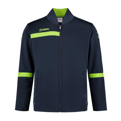Olympic trainingjacket 2.0 navy/fluo geel