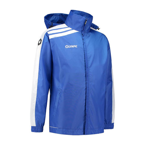 Olympic rainjacket Roma kobalt blauw/wit