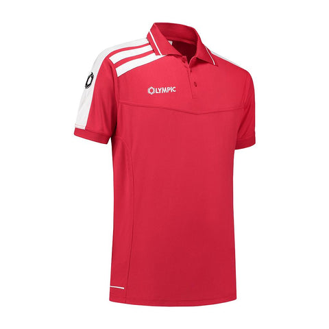 Olympic Roma Polo rood/wit