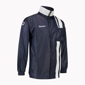 Olympic rainjacket Calcio marine/wit