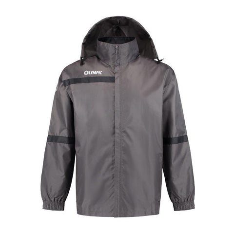 Olympic rainjacket top 2.0 grijs/zwart/wit